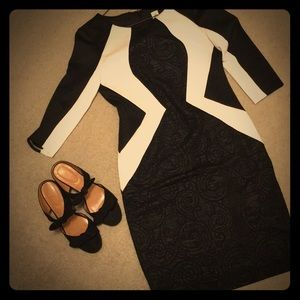 Black and white detailed dress